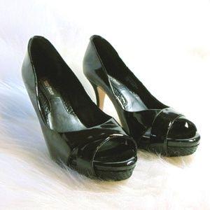White House Black Market Shoe Heels Leather Sz 6.5
